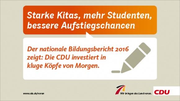 Starke Kitas, mehr Studenten, bessere Aufstiegschancen
