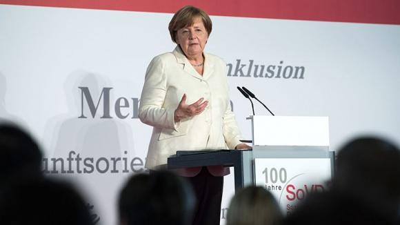 Angela Merkel beim Sozialverband Deutschland