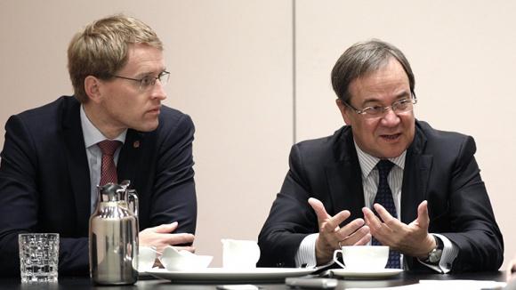 Ministerpräsidenten der Union: Daniel Günther und Armin Laschet