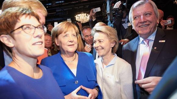 Nach dem TV-Duell. Angela Merkel