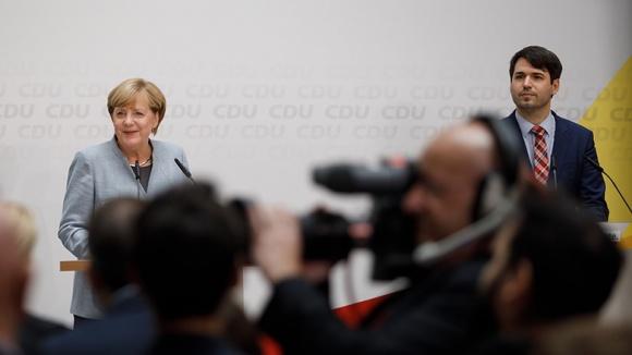 Pressekonferenz nach der Bundestagswahl