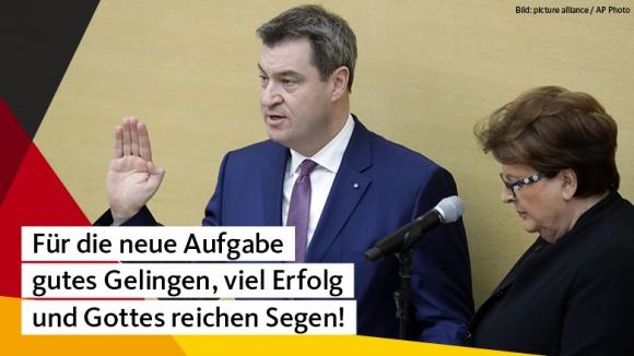 CDU Deutschlands gratuliert Markus Söder