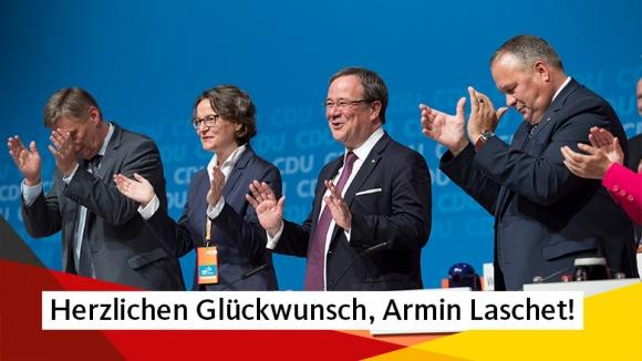 Armin Laschet als Landesvorsitzender der CDU NRW bestätigt