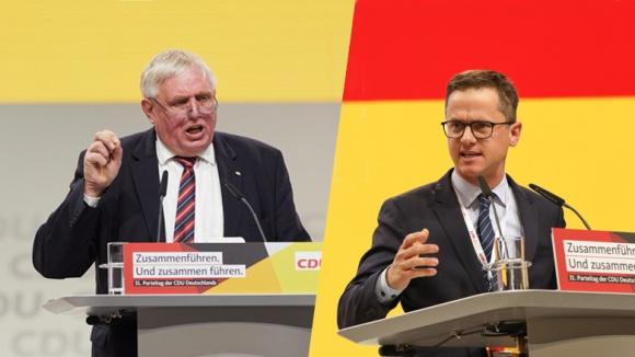 CDA-Chef Karl-Josef Laumann (links) und MIT-Chef Carsten Linnemann (rechts)