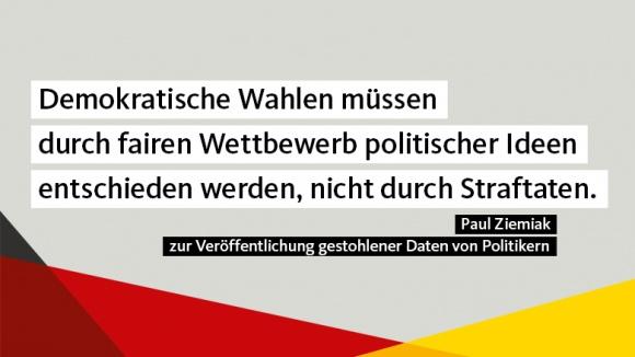 CDU-Generalsekretär Paul Ziemiak zur Veröffentlichung gestohlener Daten von Politikern