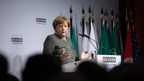 Bundeskanzlerin Angela Merkel beim Global Solution Summit in Berlin 2019
