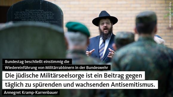Jüdische Militärseelsorge beschlossen