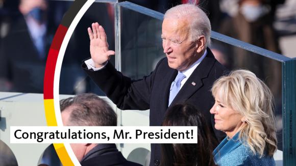 Amtseinführung des 46. US-Präsidenten der Vereinigten Staaten von Amerika, Joseph R. Biden jun.
