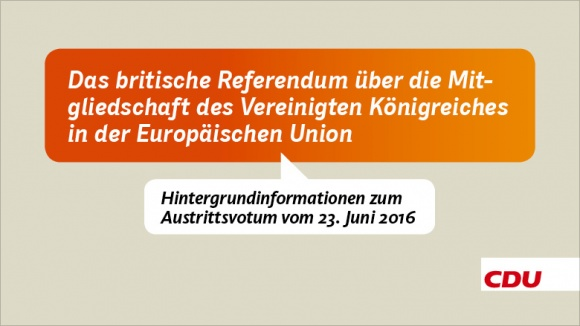Hintergrundinformationen zum EU-Referendum des Vereinigten Königreiches