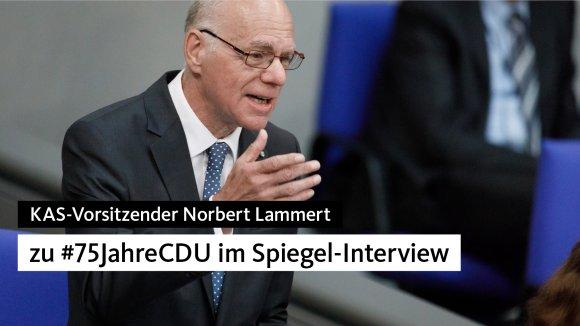 Norbert Lammert über #75JahreCDU
