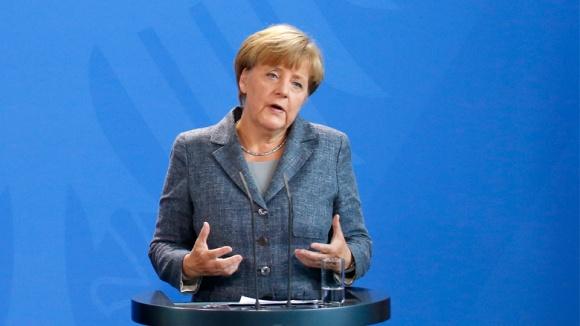 Angela Merkel in der Pressekonferenz nach dem Koalitionsausschuss