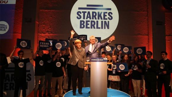 Angela Merkel und Frank Henkel