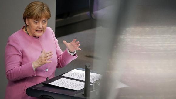Angela Merkel im Bundestag