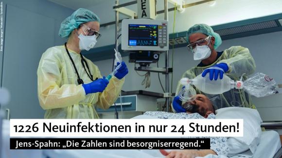 Spahn: Zahl der Neuinfektionen ist besorgniserregend