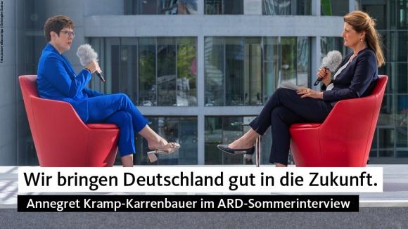 AKK im ARD-Sommerinterview