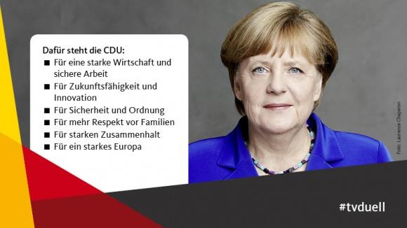 Angela Merkel: Wohlstand und Sicherheit für alle