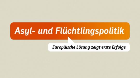 Asyl: Europäische Lösung zeigt erste Erfolge