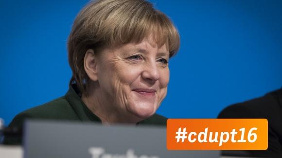 Interview mit Angela Merkel zum Ende des Parteitags