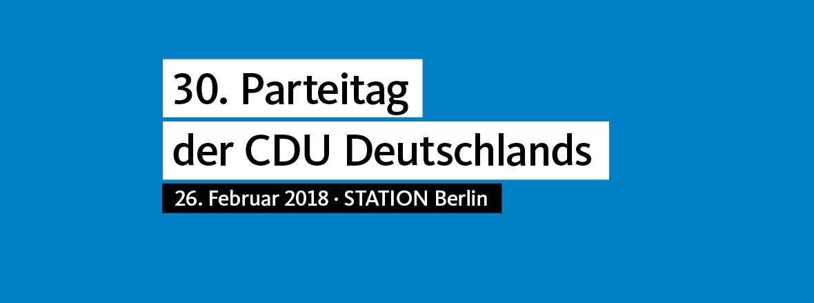30. Parteitag der CDU Deutschlands