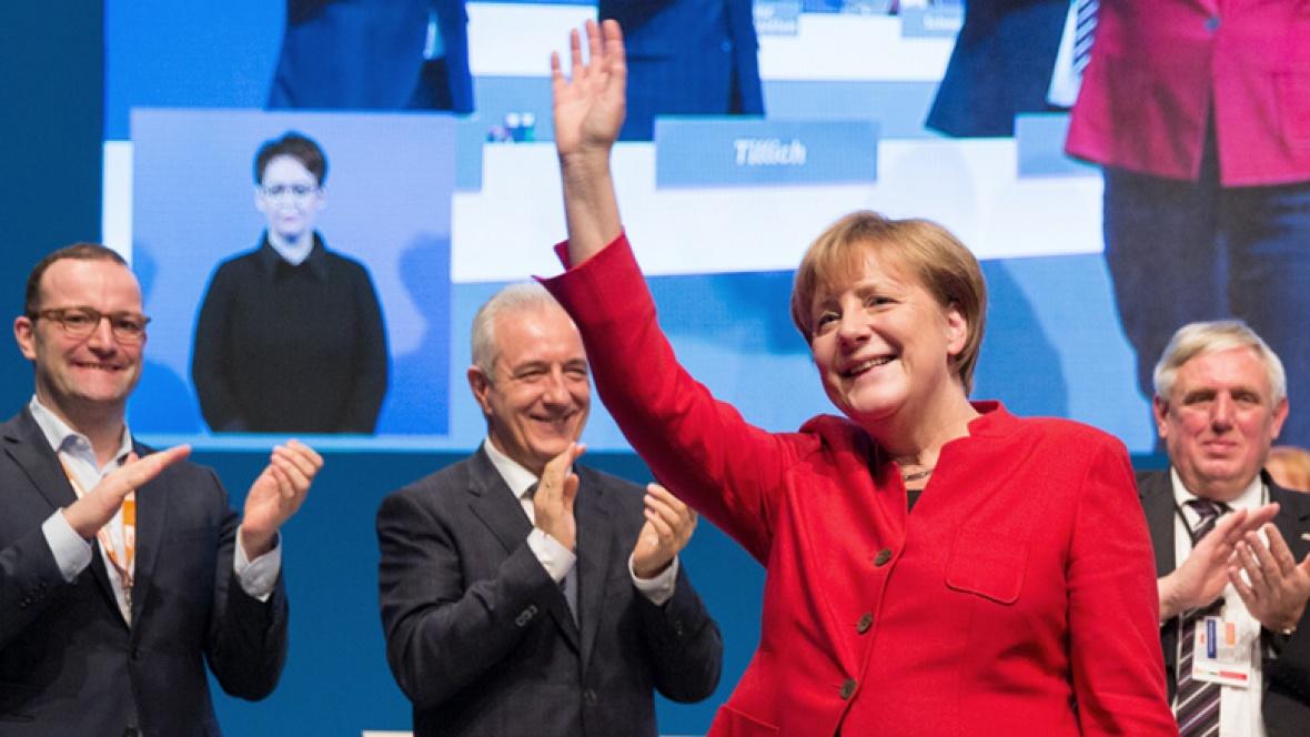 Angela Merkel, CDU-Vorsitzende nach ihrer Wahl