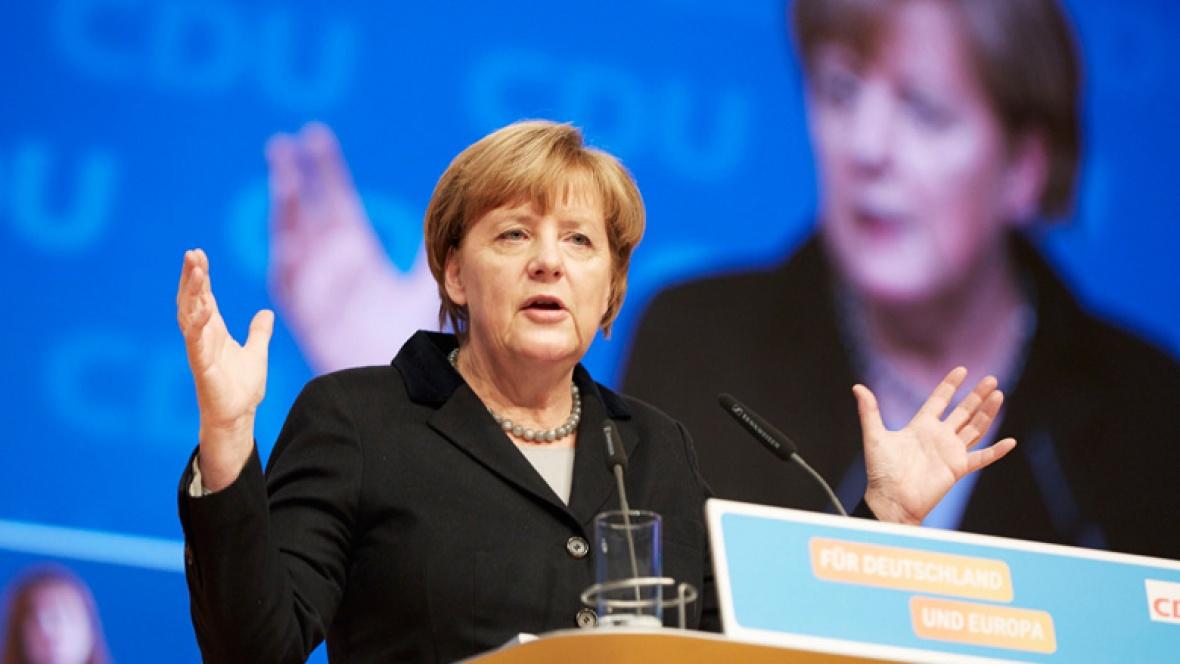 Angela Merkel beim Parteitag