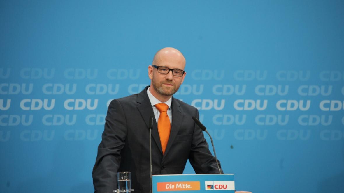 CDU-Generalsekretär Peter Tauber bei der Pressekonferenz