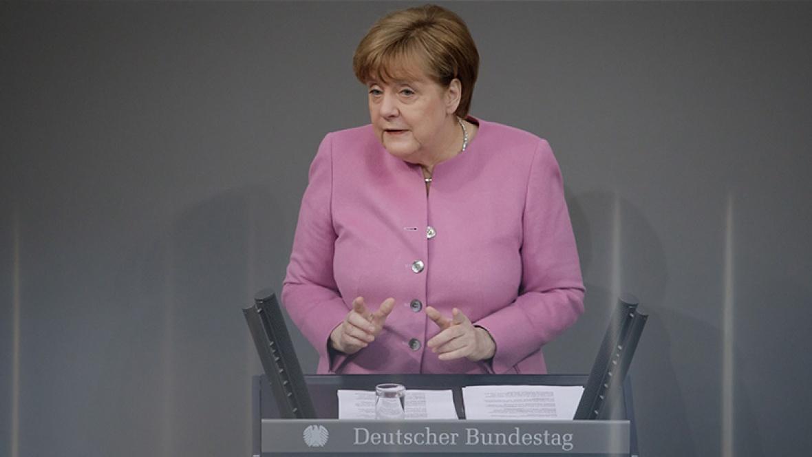 Regierungserklärung von Angela Merkel