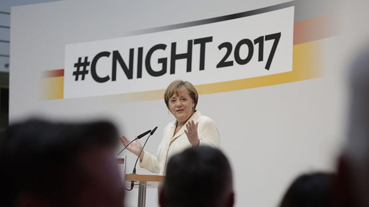 Angela Merkel bei der cnight