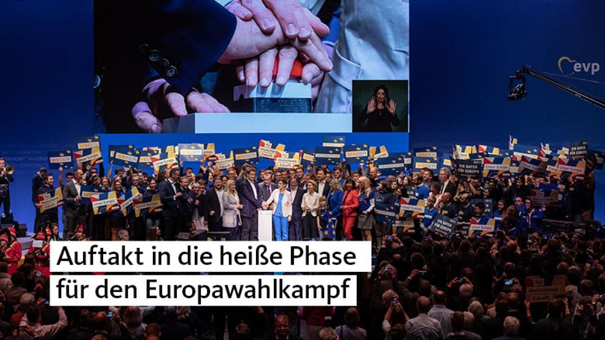 Auftakt in die heiße Phase zum Europawahlkampf
