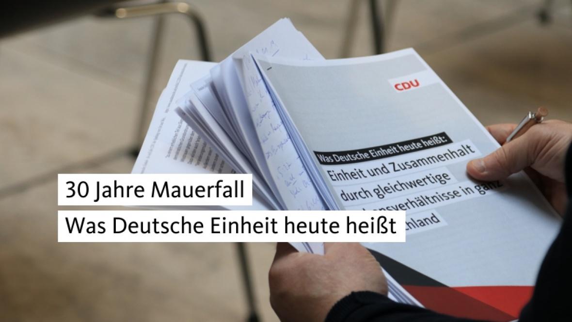 30 Jahre Mauerfall: Was Deutsche Einheit heute heißt