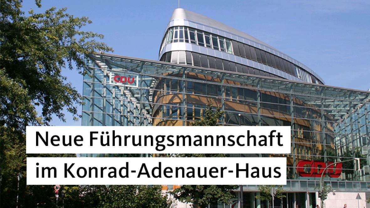 Neue Führungsmannschaft im Konrad-Adenauer-Haus
