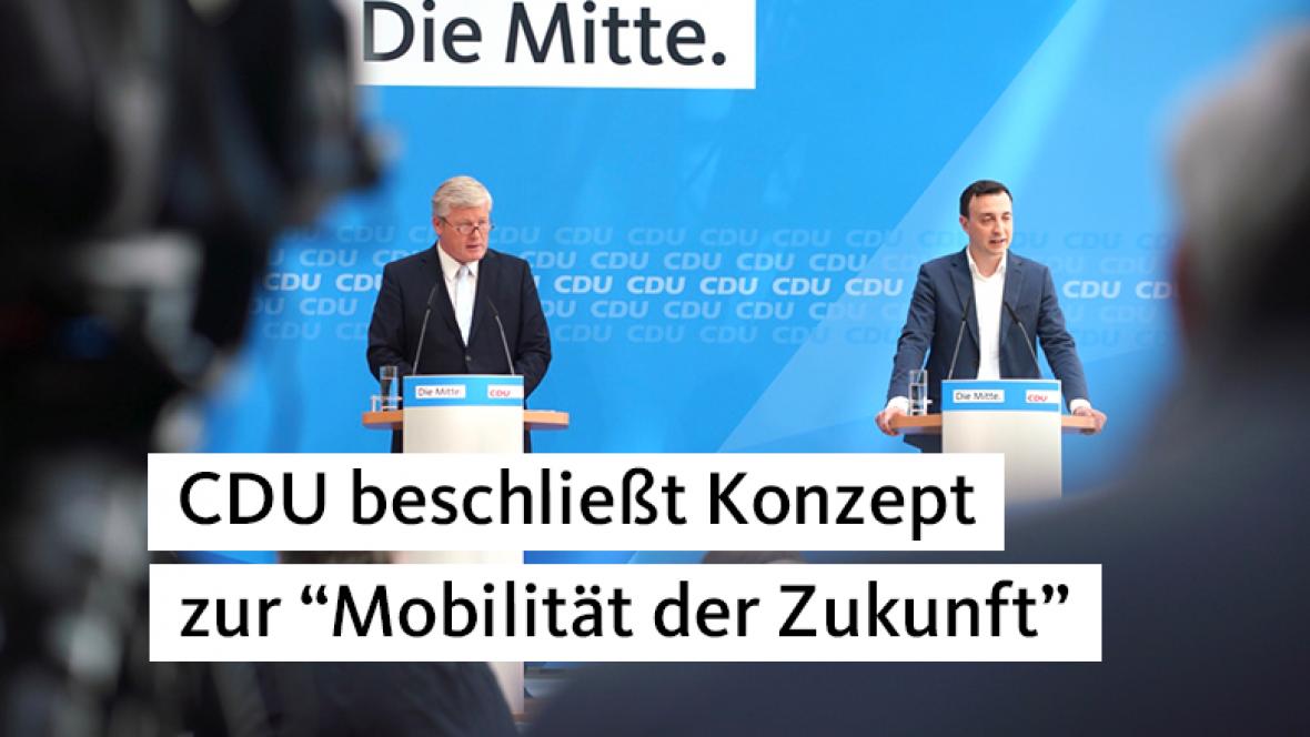 """CDU beschließt Konzept zur """"Mobilität der Zukunft"""""""