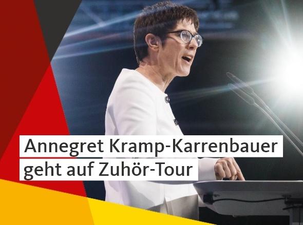 Zuhör-Tour der CDU-Generalsekretärin Annegret Kramp-Karrenbauer
