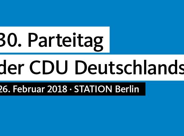 30. Parteitag der CDU Deutschland